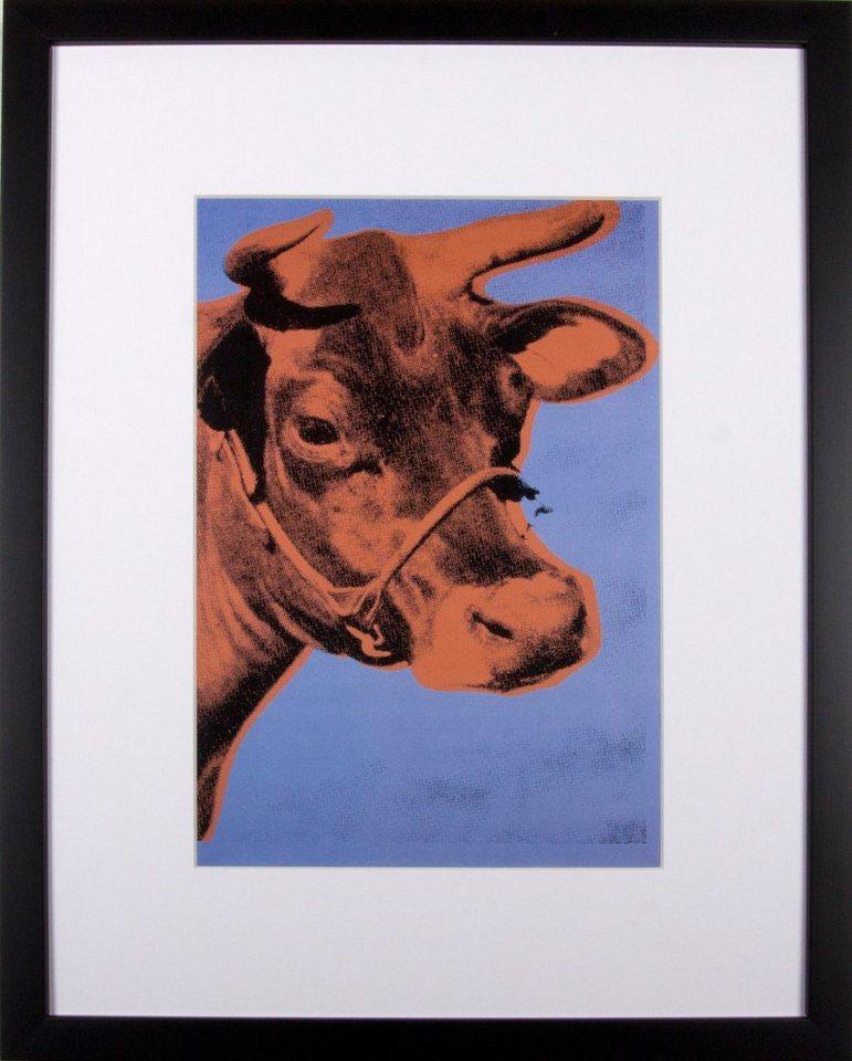 Home affaire gerahmter Kunstdruck »Die rote Kuh«, 33/43 cm in rot/blau