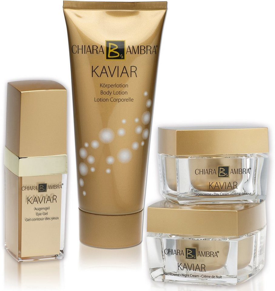 Chiara Ambra, »Kaviar«, Pflegeset (4-tlg.) + Gratis Lidschatten-Palette