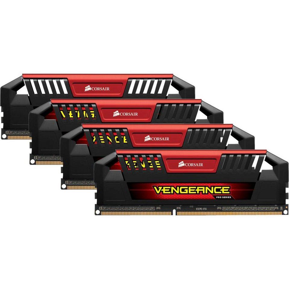 Corsair Arbeitsspeicher »DIMM 32 GB DDR3-2400 Quad-Kit«