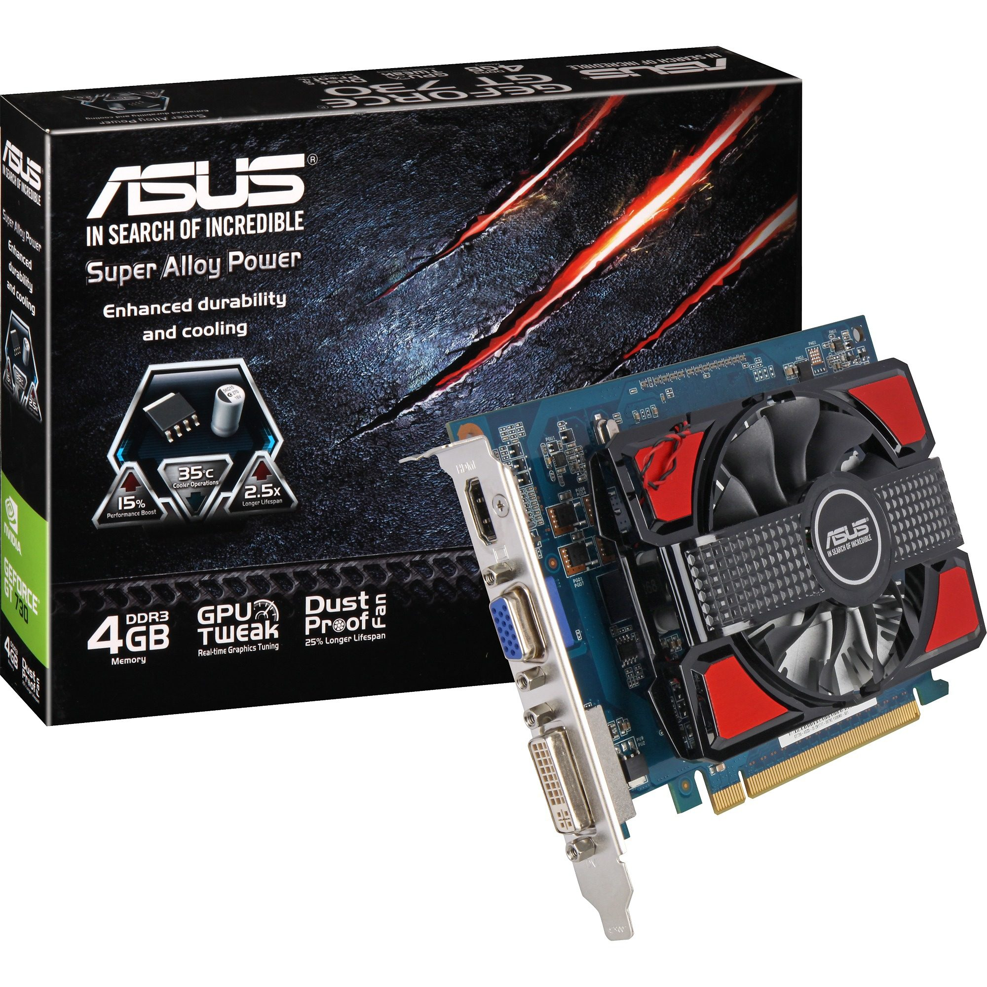 ASUS Grafikkarte »GeForce GT730-4GD3«
