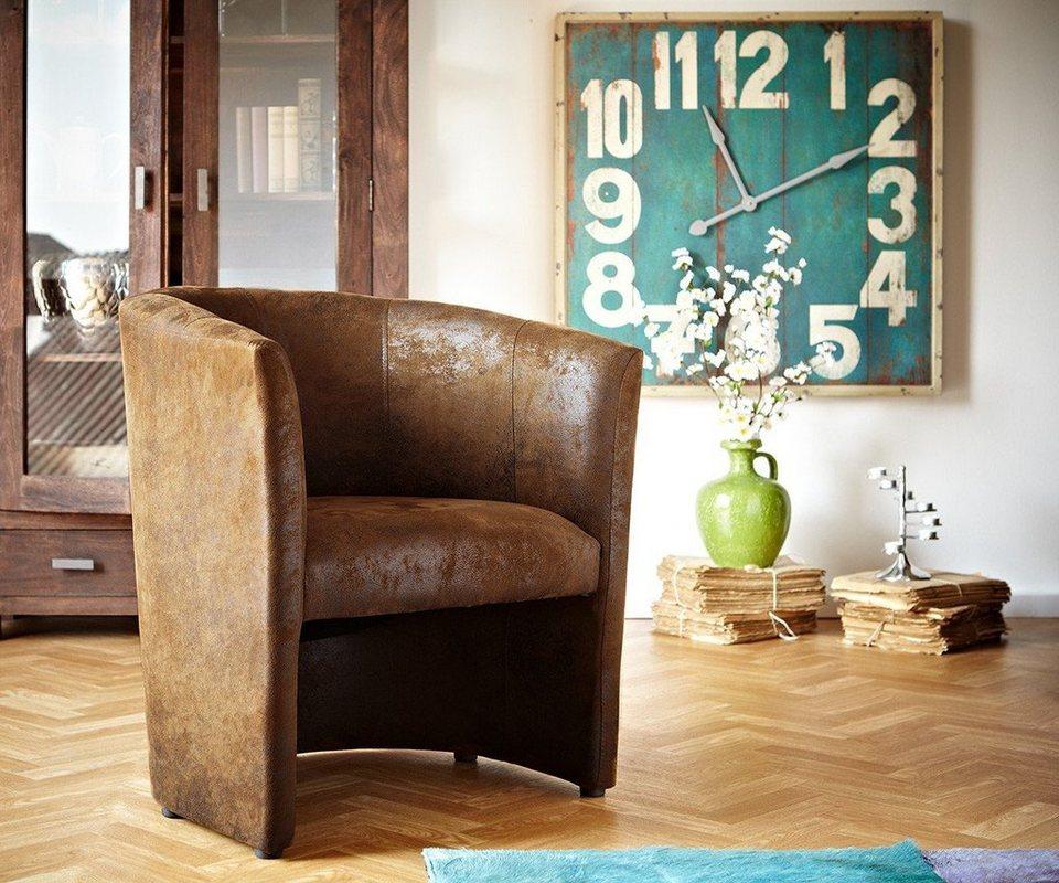 delife clubsessel cazim braun gepolstert antik optik online kaufen otto. Black Bedroom Furniture Sets. Home Design Ideas