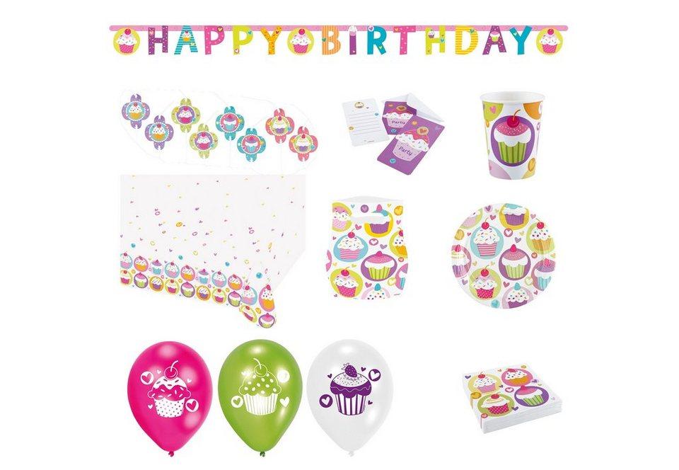 Amscan Geburtstagsset, »Cupcake« (64-tlg.)