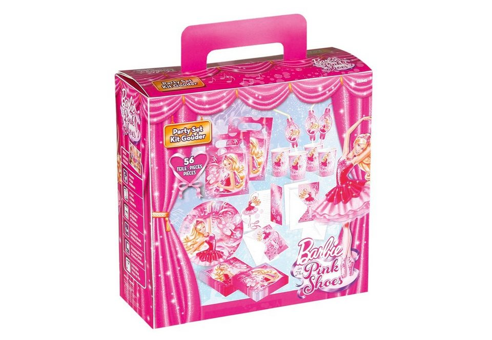 Amscan Geburtstagsset, »Barbie Pink Shoes« (56-tlg.)