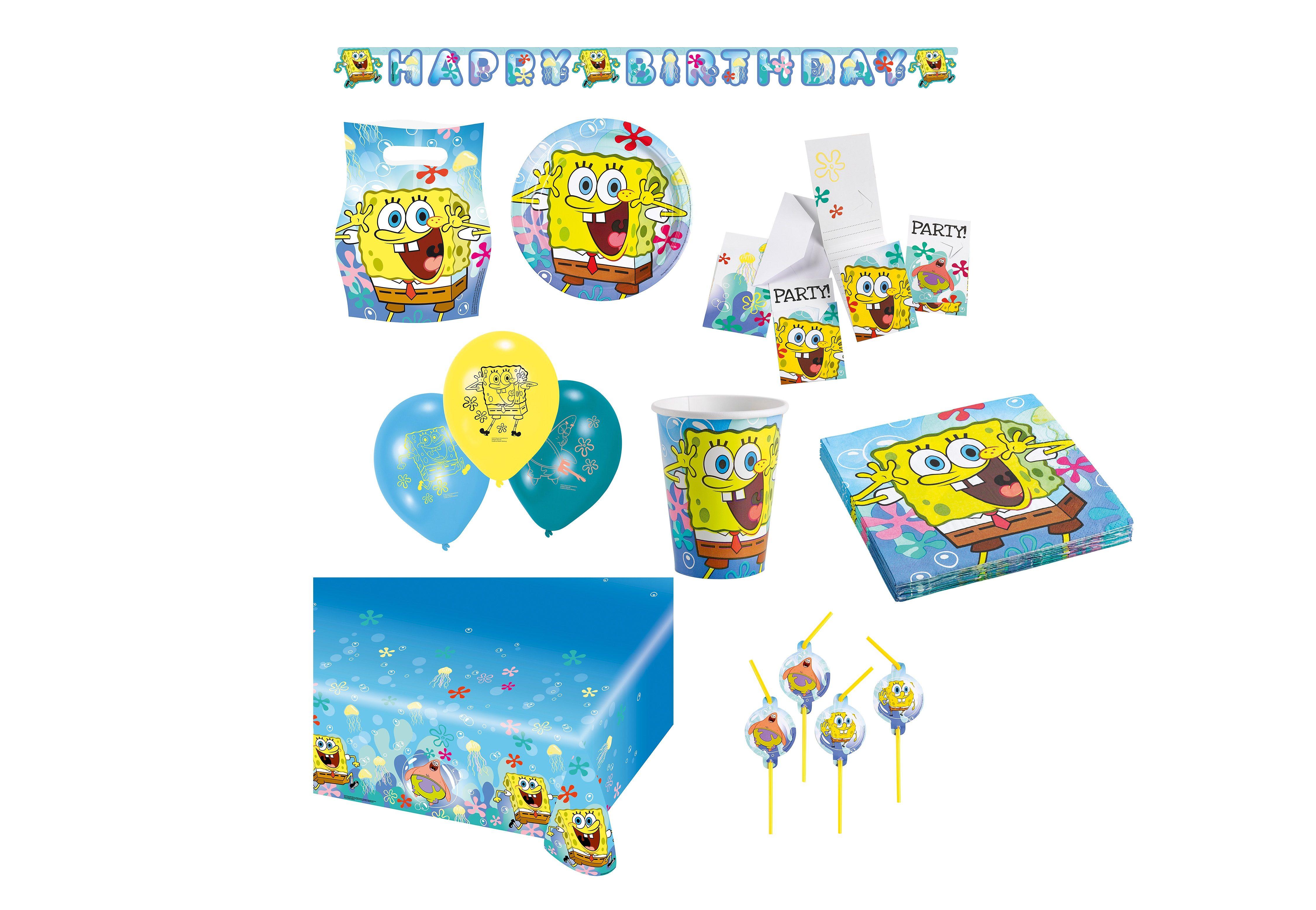 Riethmüller Geburtstagsset, »SpongeBob« (64-tlg.)