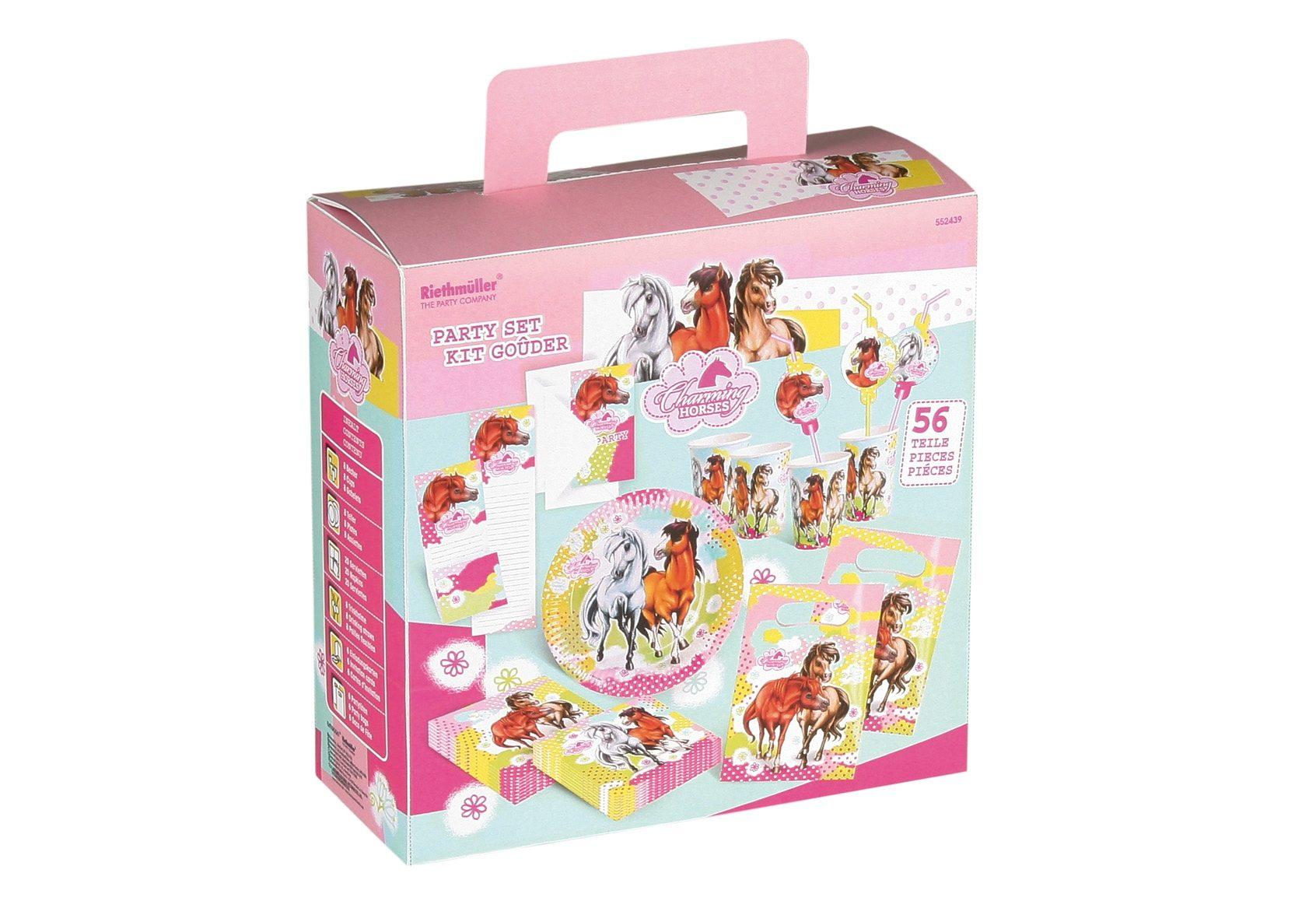 Riethmüller Geburtstagsset, »Charming Horses 2« (56-tlg.)