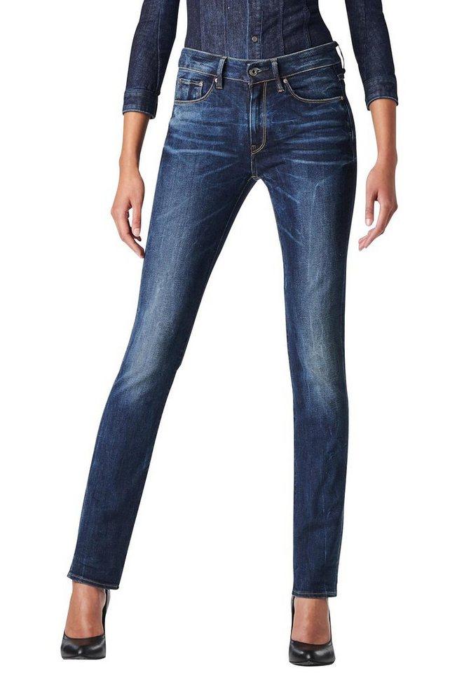 G-Star Gerade Jeans »3301 contour high straight« mit etwas höherem Rücken in blue-denim