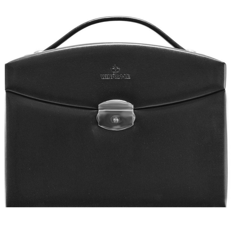 WINDROSE Merino Schmuckkoffer 25 cm in schwarz