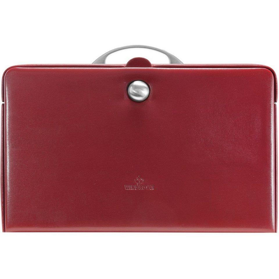 WINDROSE Merino Charmbox Schmuckkasten 31 cm in rot