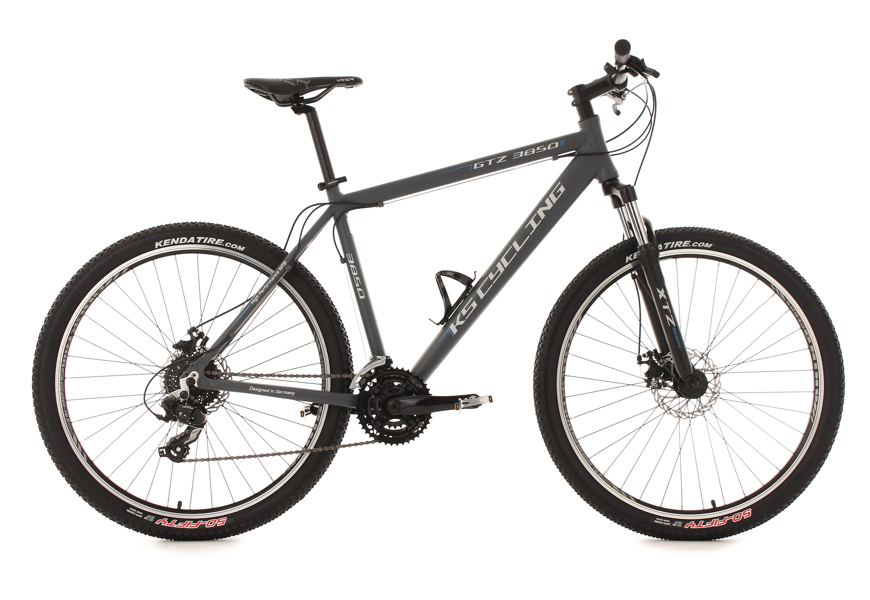 KS Cycling Hardtail-Mountainbike, 27,5 Zoll, anthrazit, 24-Gang-Kettenschaltung, »GTZ«