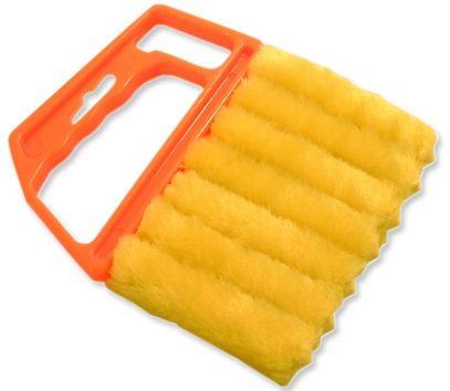 GARDINIA Reinigungsbürste für Jalousien, gelb-orange (1 Stück)