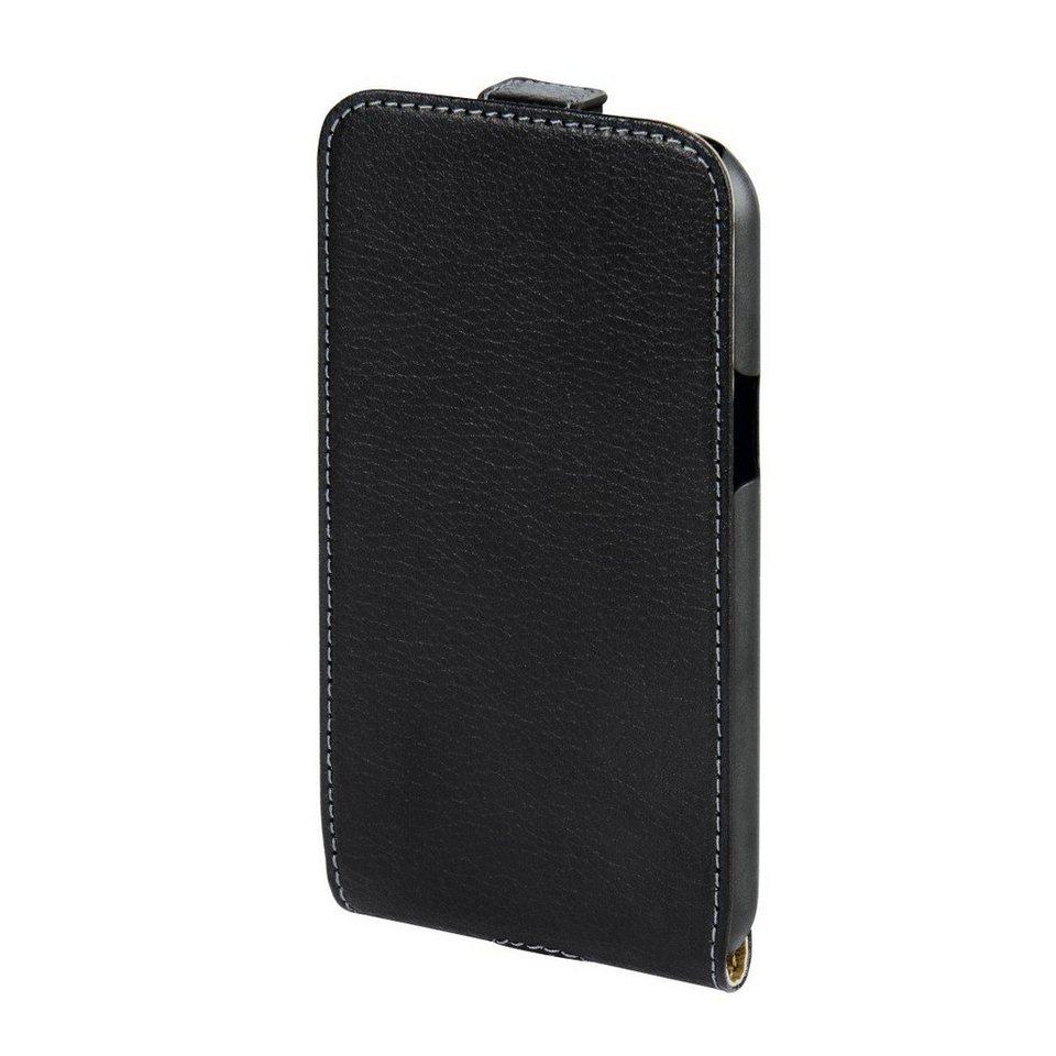 Hama Leder Hülle für Samsung Galaxy J1 Handytasche Handycase »Handy Schutzhülle Flip Case« in Schwarz