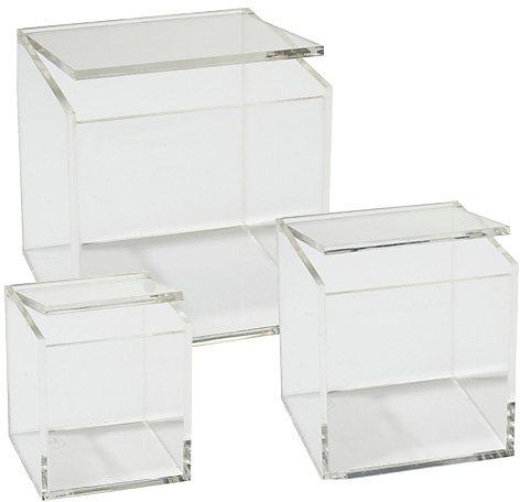 Acryl-Boxen, Zone, »Confetti« ( 3 Stck.) in Klar