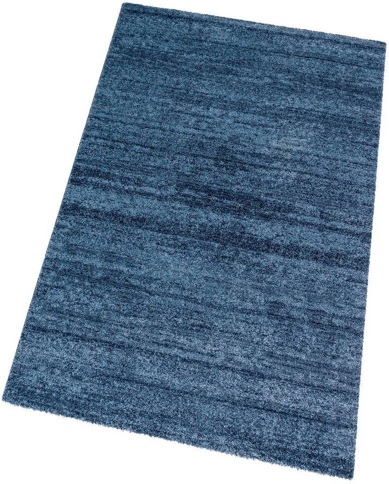 Teppich, Astra, »Samoa Melange«, maschinell gewebt in blau