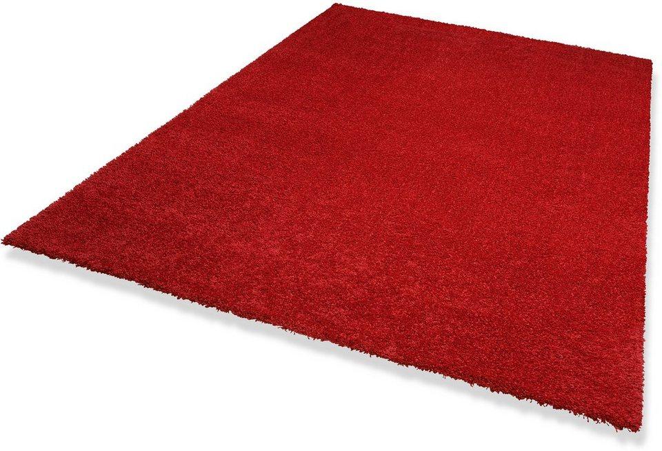 Hochflor-Teppich »Wellness«, Höhe 22 mm, Dekowe in rot