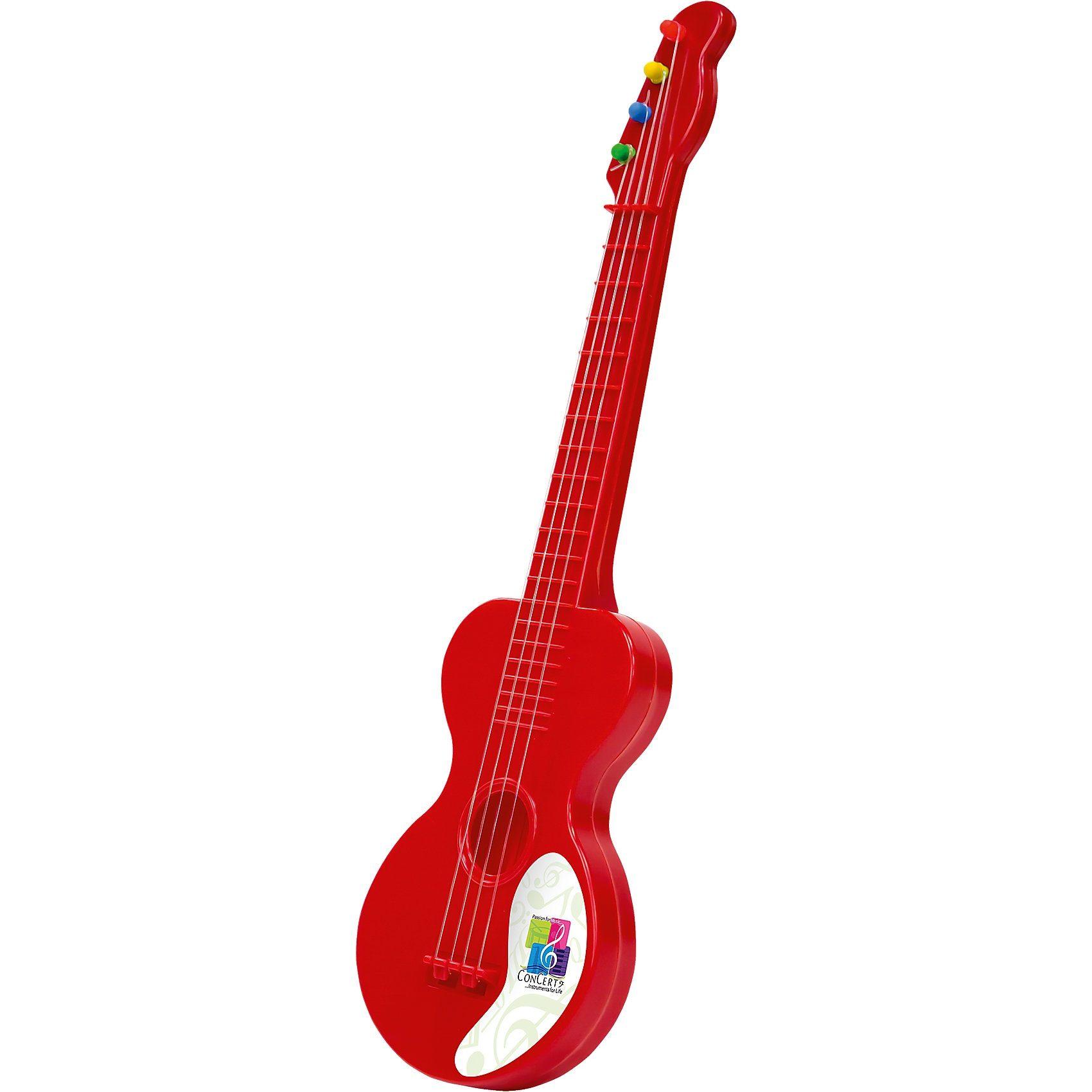 Gitarre Concerto rot Kunststoff, 40 cm