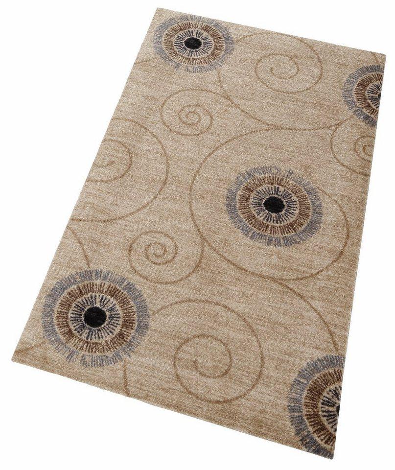 Läufer »Chiaro«, wash+dry by Kleen-Tex, rechteckig, Höhe 9 mm in beige-grau