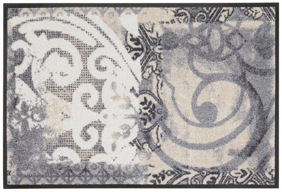 Fußmatte »Arabesque«, wash+dry by Kleen-Tex, rechteckig, Höhe 9 mm in beige-grau