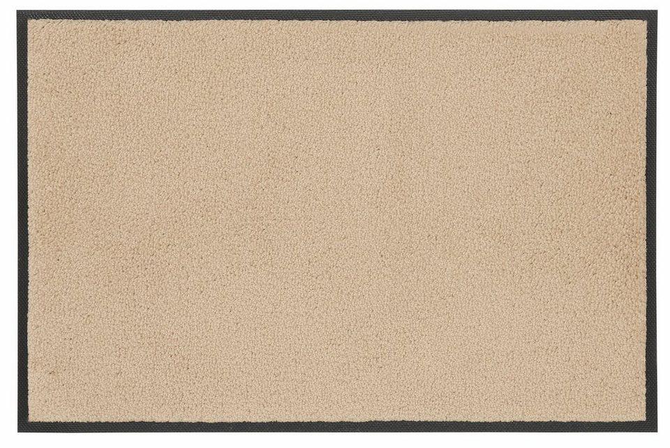 Fußmatte »Original Uni«, wash+dry by Kleen-Tex, rechteckig, Höhe 7 mm in sand