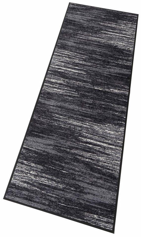 Läufer, wash+dry by Kleen-Tex, »Scratchy«, rutschhemmend beschichtet in grau