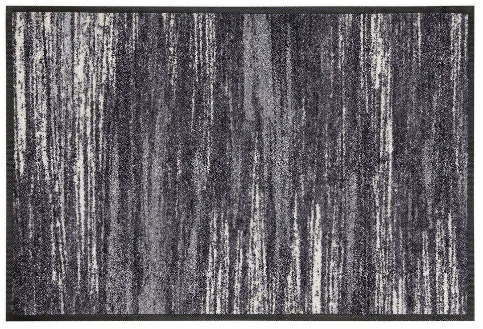 Fußmatte »Scratchy«, wash+dry by Kleen-Tex, rechteckig, Höhe 7 mm in grau