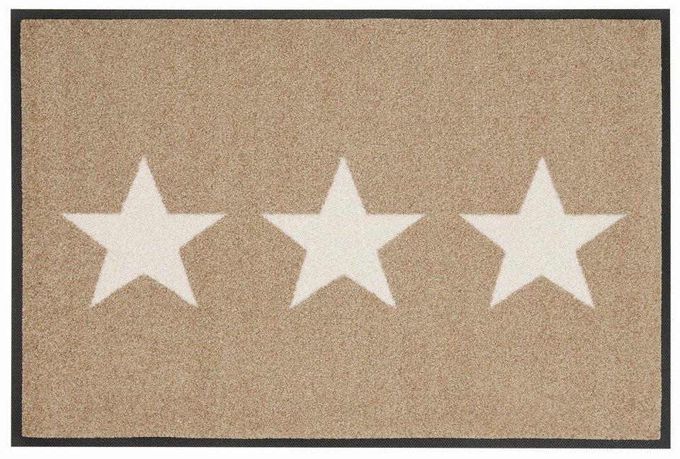 Fußmatte, wash+dry by Kleen-Tex, »Stars«, rutschhemmend beschichtet in beige