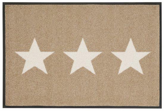 Fußmatte »Stars«, wash+dry by Kleen-Tex, rechteckig, Höhe 9 mm, Schmutzfangmatte, In- und Outdoor geeignet, waschbar