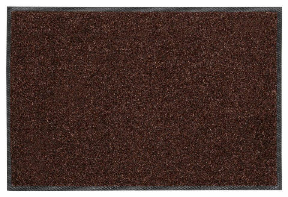 Fußmatte »Trend Uni«, WASH + DRY BY KLEEN-TEX, rechteckig, Höhe 7 mm in dunkelbraun