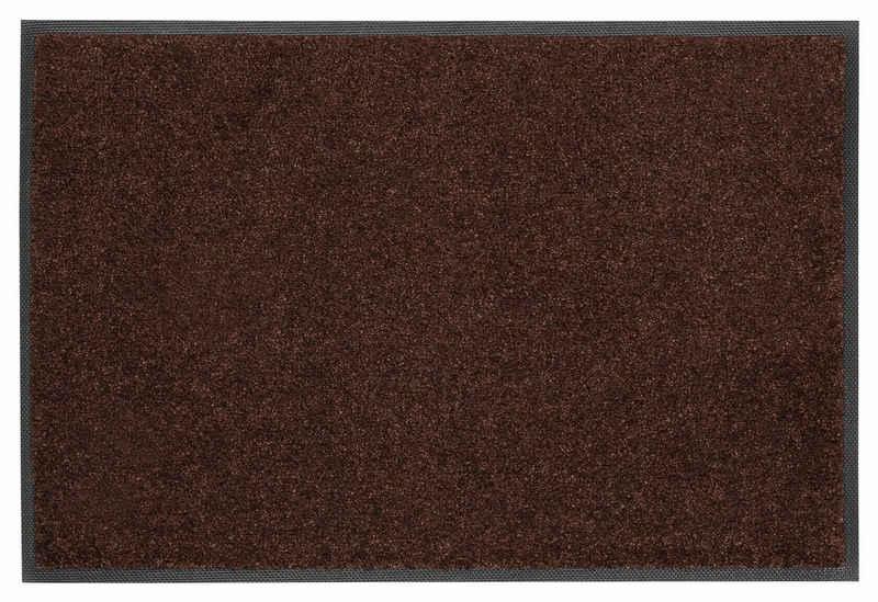 Fußmatte »Trend Uni«, wash+dry by Kleen-Tex, rechteckig, Höhe 7 mm, Schmutzfangmatte, In- und Outdoor geeignet, waschbar