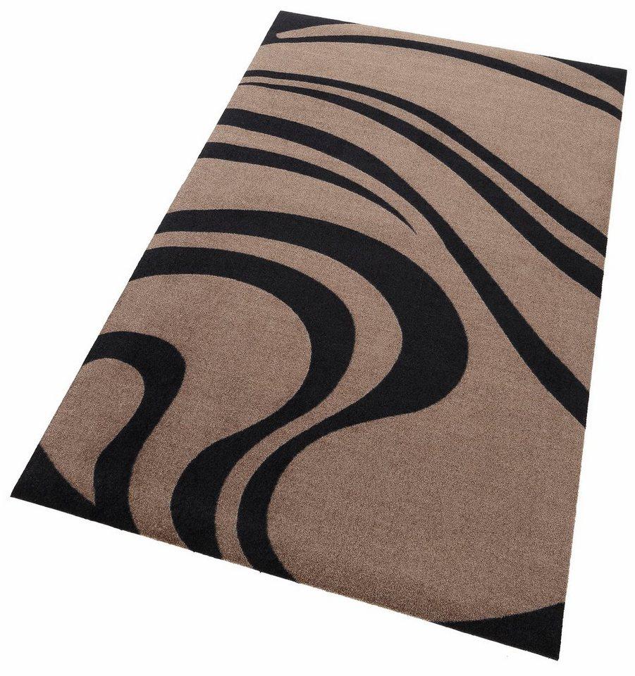 Läufer, wash+dry by Kleen-Tex, »Waves«, rutschhemmend beschichtet in taupe
