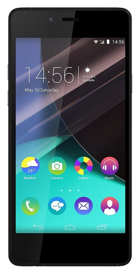 Wiko Highway Pure Smartphone, 12,1 cm (4,8 Zoll) Display, LTE (4G), Android 4.4.4, 8,0 Megapixel in grau-schwarz