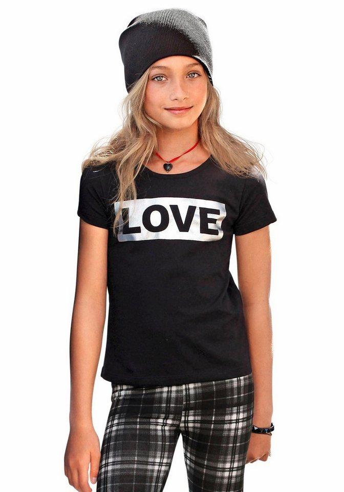 CFL T-Shirt mit Foilendruck in schwarz