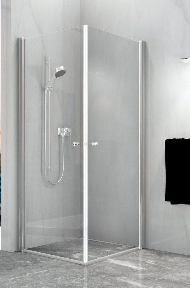 Eckdusche »Relax Vario«, 90cm x 90cm in silberfarben