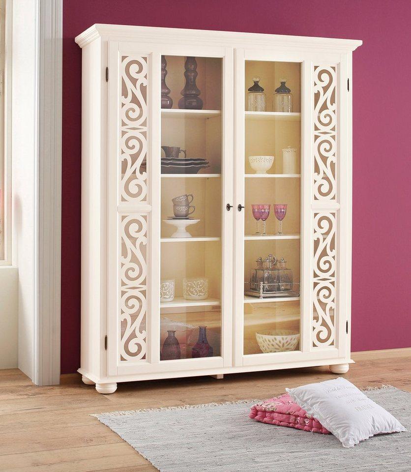 Premium collection by Home affaire Vitrine »Arabeske«, Höhe 190 cm in creme