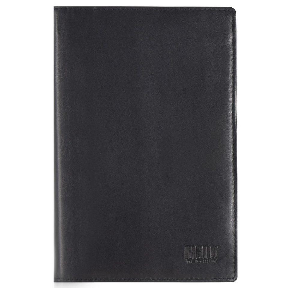 mano Planus Kreditkartenetui Leder 11 cm in schwarz