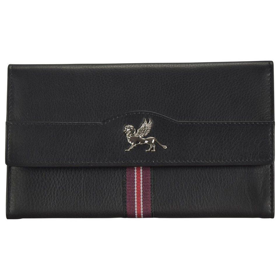mano Signum Women Geldbörse Leder 18 cm in schwarz