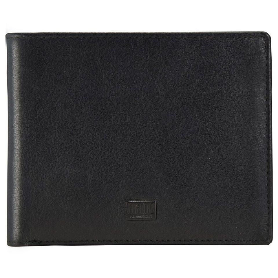 mano Tabula Geldbörse Leder 12 cm in schwarz