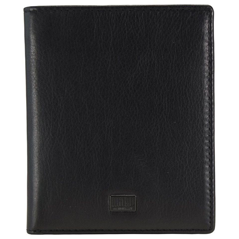 mano Tabula Geldbörse Leder 10 cm in schwarz