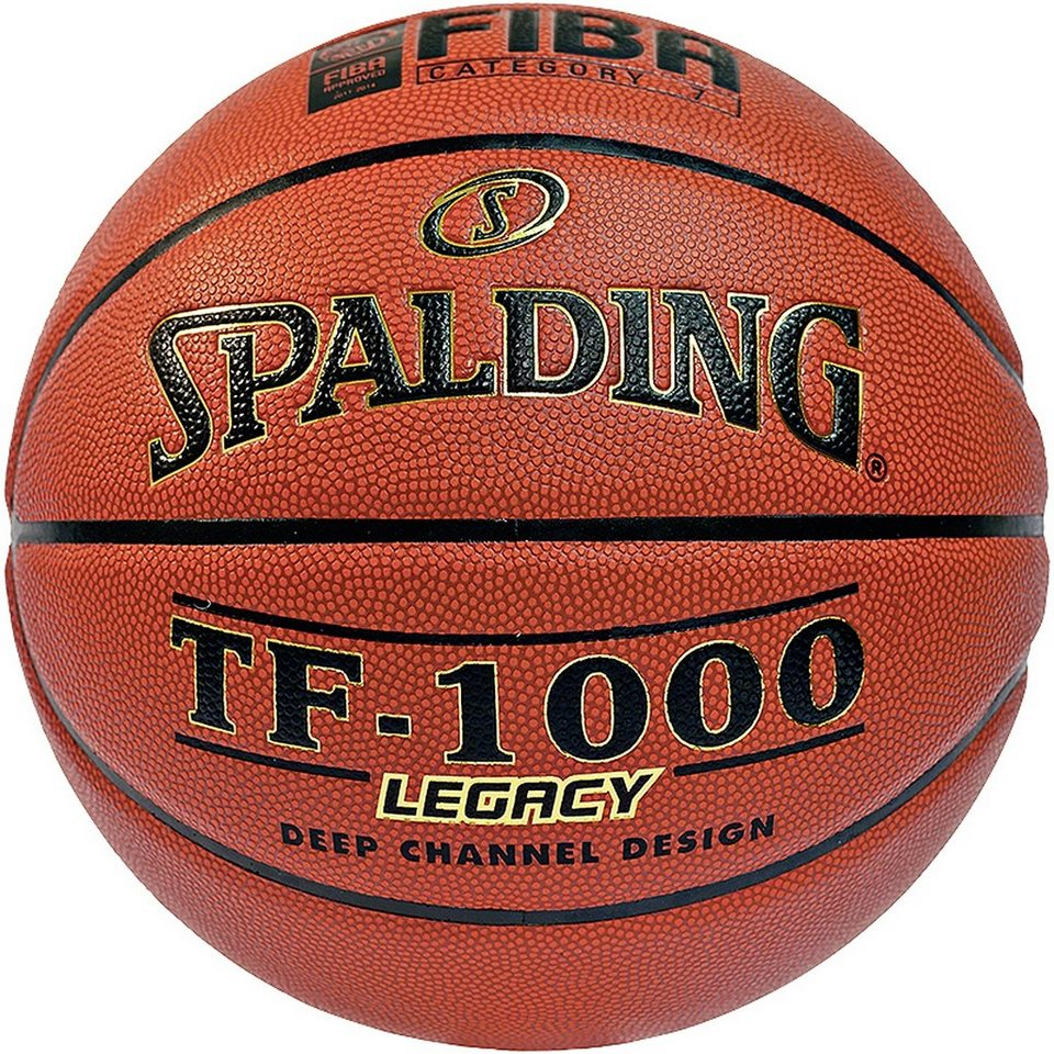 SPALDING TF 1000 Legacy (74-451Z) mit FIBA Basketball in braun / schwarz