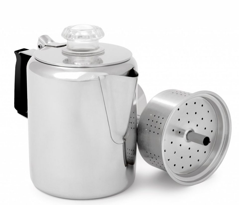 GSI Camping-Geschirr »Glacier Stainless Perculator 700ml« in silber