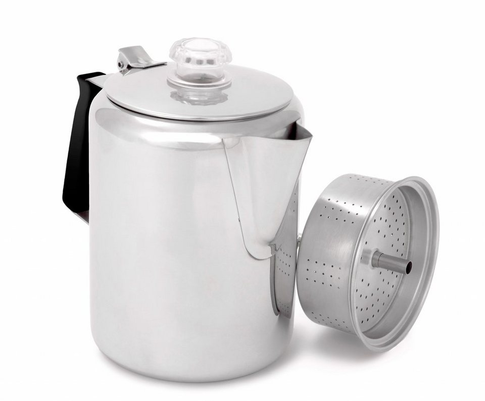 GSI Camping-Geschirr »Glacier Stainless Perculator 2130ml« in silber