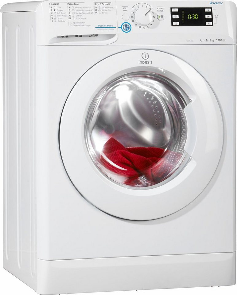 indesit waschmaschine xwe 71483x w de a 7 kg 1400 u min online kaufen otto. Black Bedroom Furniture Sets. Home Design Ideas