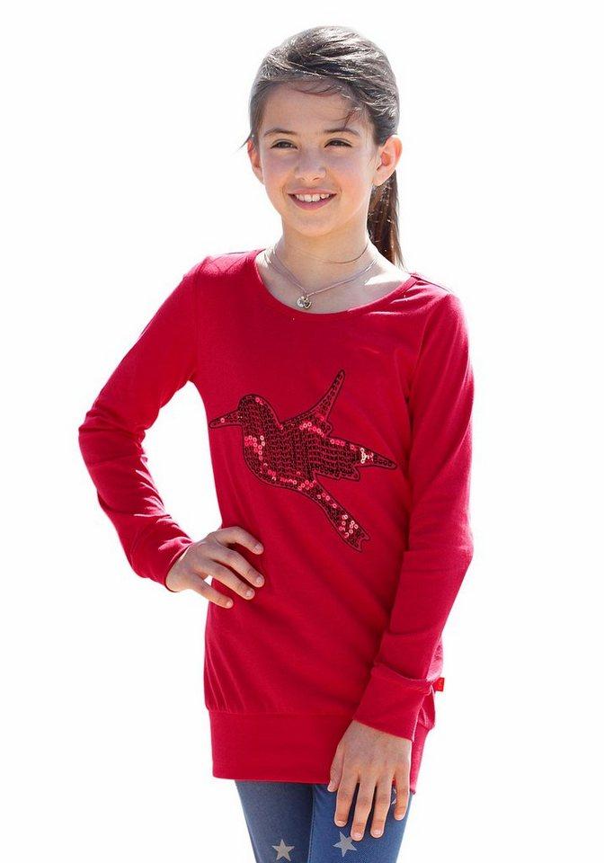 CFL Longshirt mit Pailletten in rot