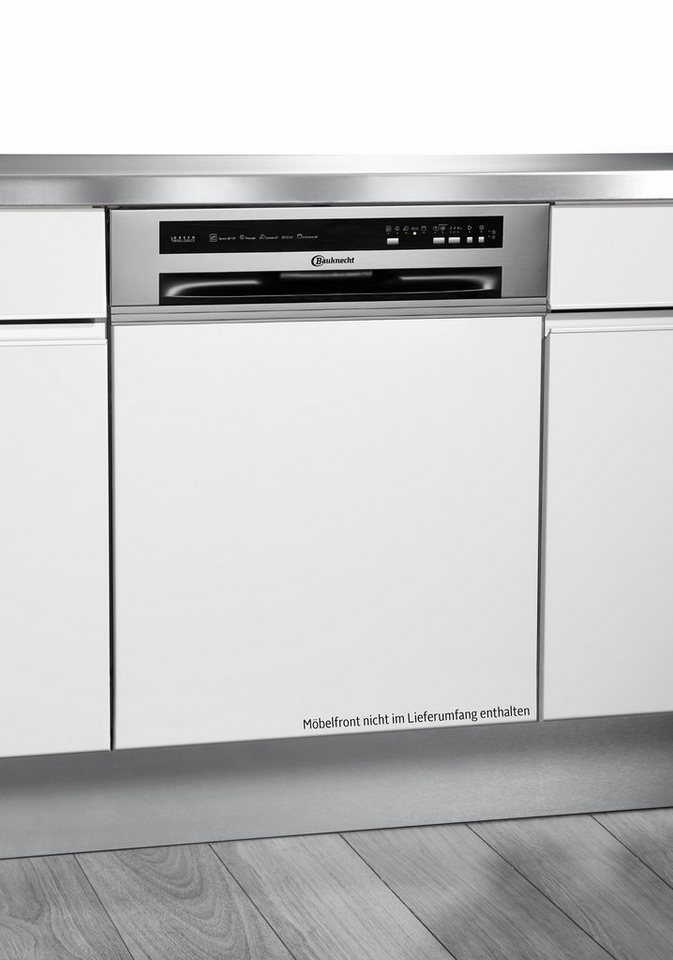 Bauknecht integrierbarer Einbaugeschirrspüler GSIK 5104A2I, A++, 11 Liter, 13 Maßgedecke in Edelstahl