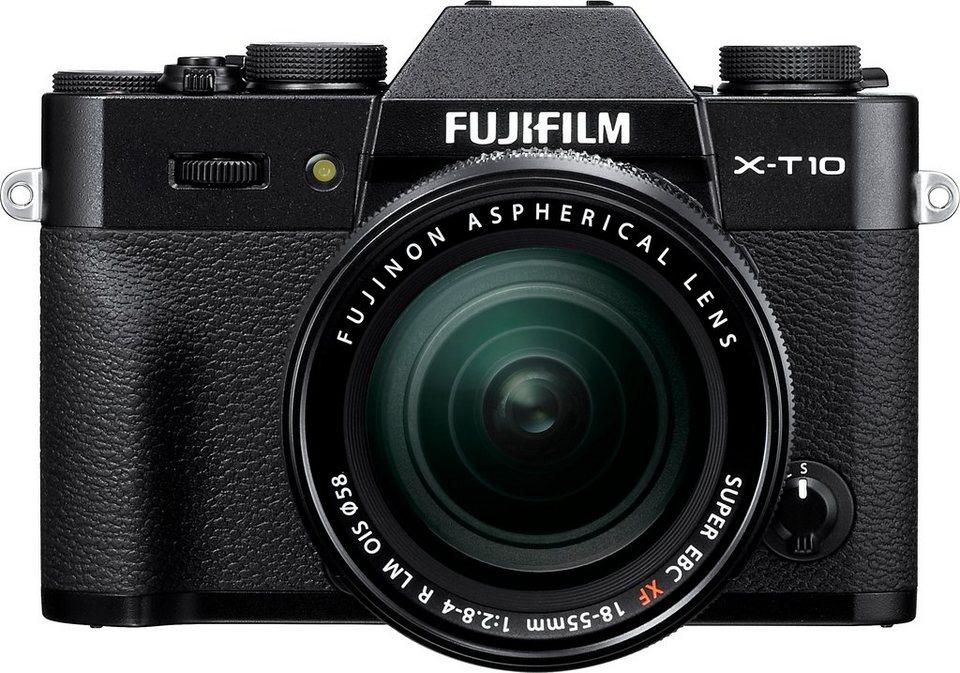 FUJIFILM X-T10 System Kamera, FUJINON XF18-55mm F2.8-4 R LM OIS Zoom, 16,3 Megapixel in schwarz
