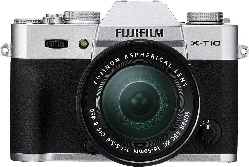 FUJIFILM X-T10 System Kamera, FUJINON XC16-50mm F3.5-5.6 OIS II Zoom, 16,3 Megapixel in silberfarben