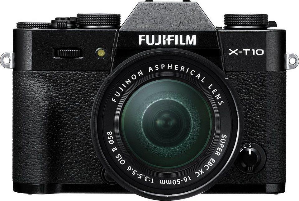 FUJIFILM X-T10 System Kamera, FUJINON XC16-50mm F3.5-5.6 OIS II Zoom, 16,3 Megapixel in schwarz
