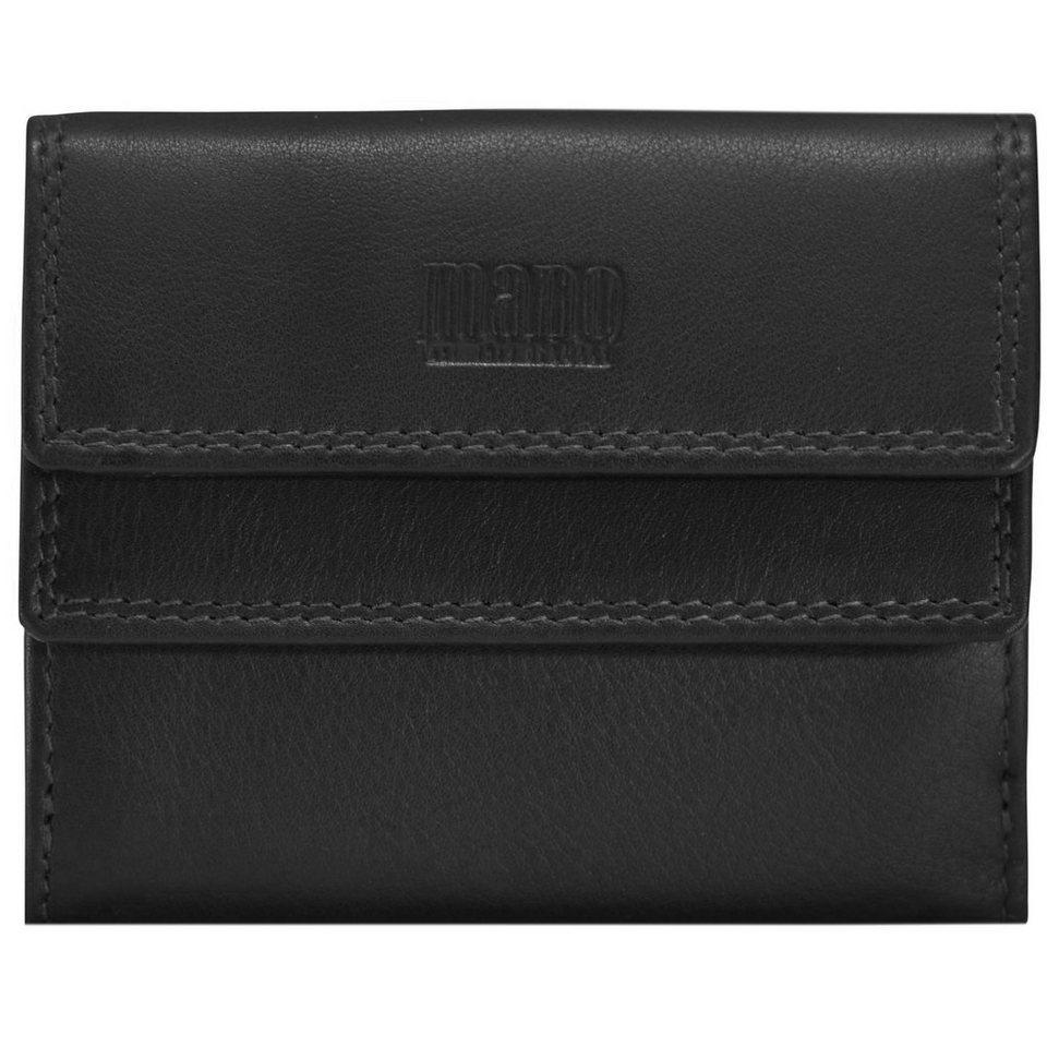 mano Sutura Geldbörse Leder 10,5 cm in schwarz