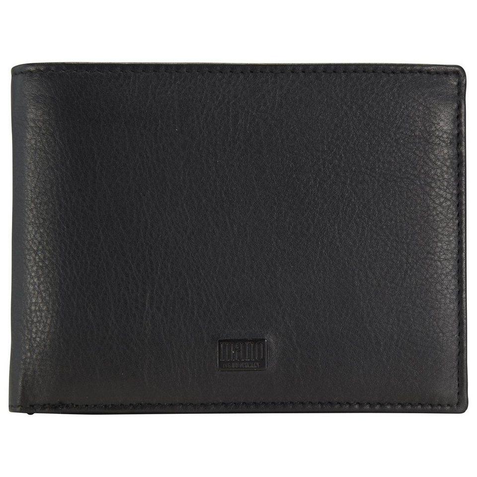 mano Tabula Geldbörse Leder 12,5 cm in schwarz