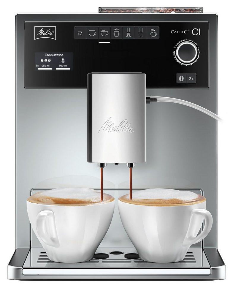 Melitta® Kaffeevollautomat Caffeo® CI® E 970-306, silber, 15 bar in Silber