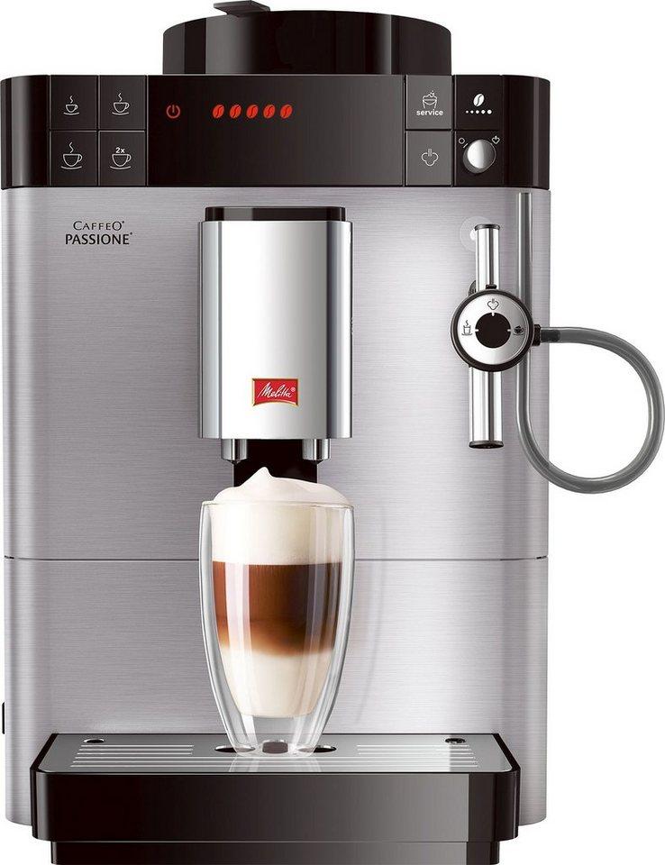 melitta kaffeevollautomat f54 0 100 caffeo passione edelstahl 15 bar online kaufen otto. Black Bedroom Furniture Sets. Home Design Ideas